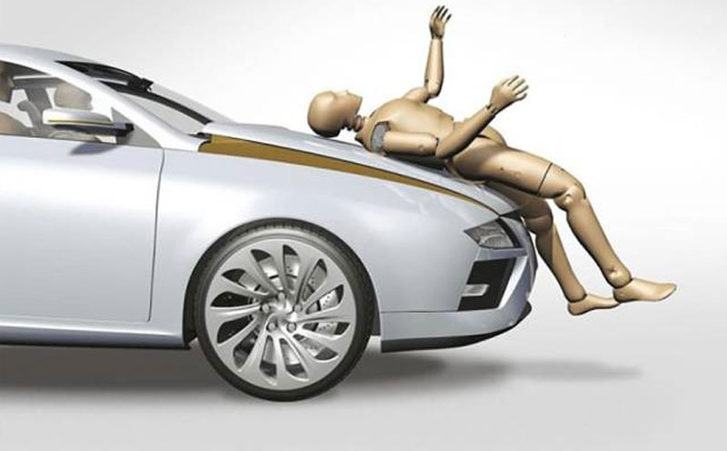 车辆与行人发生碰撞