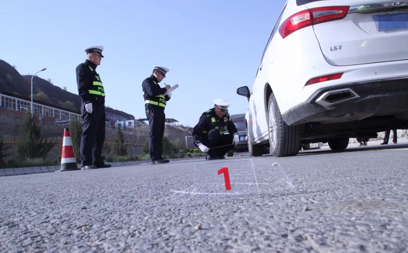 交通事故现场勘查记录