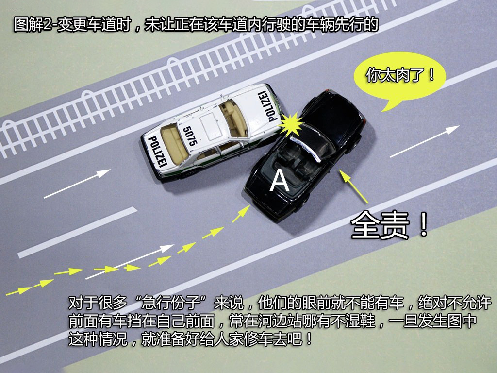 变更车道时,未让已在车道内的车辆先行