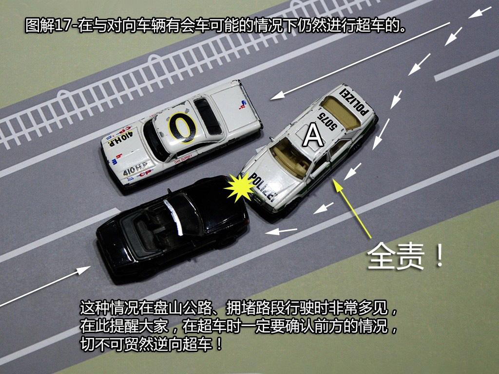 与对面来车有会车可能时超车