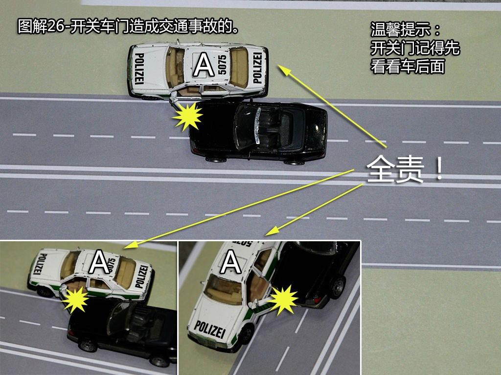 开关车门造成交通事故